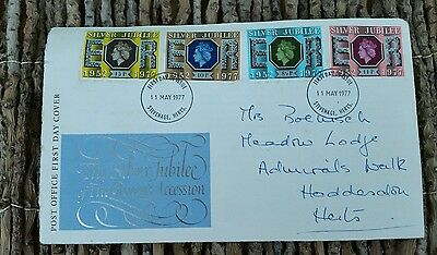 GB 1977 Silver Jubilee Set (4) on Illustrated Souvenir Cover