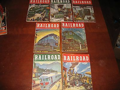 Vintage Railroad Magazine LOT of 7 from 1952