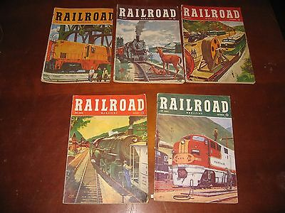 Vintage Railroad Magazine LOT of 5 from 1951