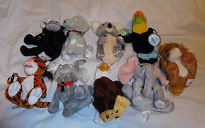 lot of 9 Coca - Cola Bean Bag Collection Coke Stuffed Animals 1999 dog bear