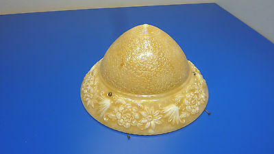 Antique RARE Glass Hanging Ceiling Light Shade,No Fixture Just The Shade