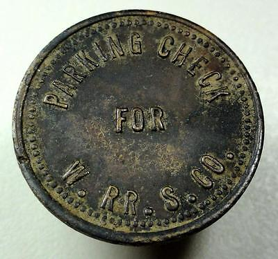 Unlisted Railroad Parking Check Token Western RR Supply Co. (Chigao) 22mm me53
