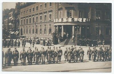 WIESBADEN Marshall Foch & French Soldiers STADTSCHLOSS City Palace Unused RP PC