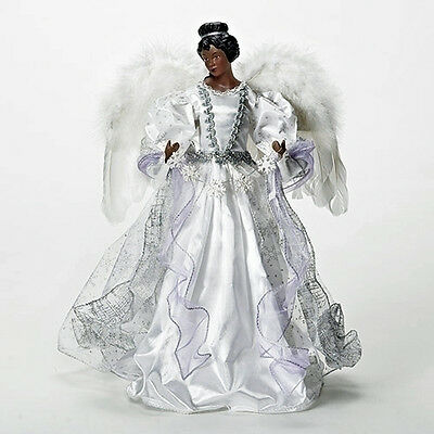 "Christmas Tree Toppers - African American Angel Christmas Tree Topper - 16""h"