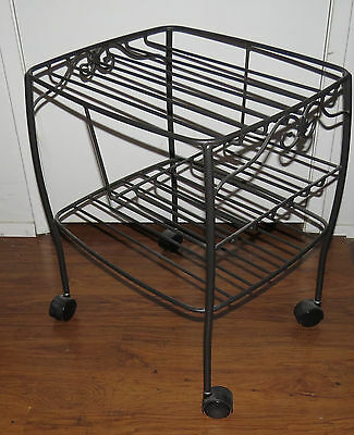 Longaberger Hostess File Basket Wrought Iron Trolley 1998 NEW