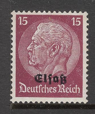 GERMAN OCCUPATION OF Elsas 1941 15pfg Mint Light Hinged