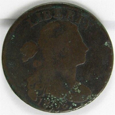 1806 Draped Bust Large Cent 1c Coin