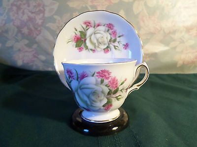Vintage Fine Bone China Floral Tea Cup and Saucer by Royal Vale