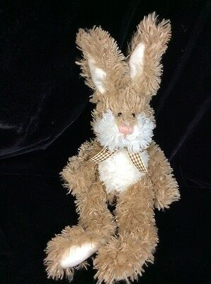 "Russ Bradley Bunny Rabbit Beige Tan Plush Soft Toy Stuffed 14"" Animal"