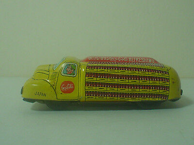 Vintage 1950s Coca Cola Tin Friction Toy Squash Truck / Car ~ Linemar ~ Japan