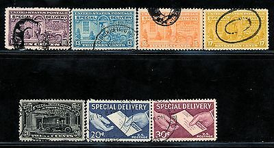 Dr Jim Stamps Old Us Special Delivery Lot Of 7 Used No Reserve Free Shipping
