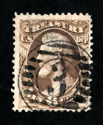 Dr Jim Stamps Old Us Official Scott O75 6C Treasury Department Used No Reserve