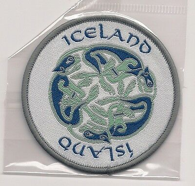 Country Of Iceland Souvenir Travel Patch