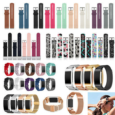 Replacement Strap Silicone Milanness Stainless Watch Band for Fitbit Charge 2