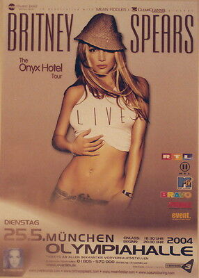 Britney Spears Concert Tour Poster 2004 In The Zone