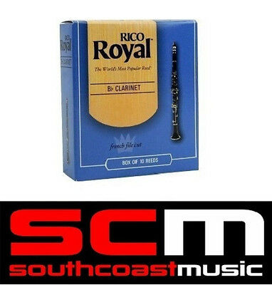 BRAND NEW RICO ROYAL Bb CLARINET 2.0 REED BOX OF 10 REEDS SALE ON NOW - FREE P&H