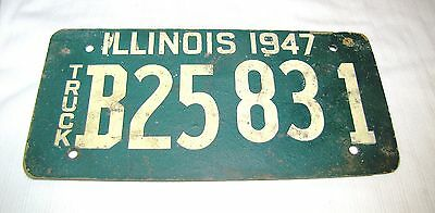 1947 Illinois--Rare--Truck License Plate--Soy Bean