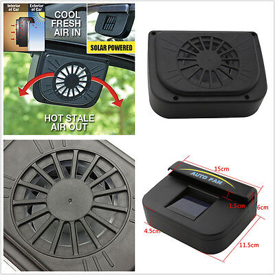 ABS Auto Solar Powered Car Air Vent Cooling Cooler Fan Ventilator Radiator vent