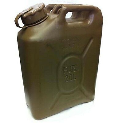 US Army Military Fuel Canister Kanister MFC 20L Gasoline / Diesel Field Drab