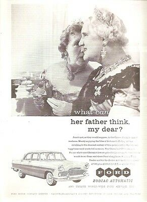 Ford Dagenham Zodiac Automatic Saloon Midsummer Ball 1959 Vintage Advert