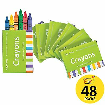 Kids Birthday Party Supplies Favours Mini Box Crayons (48 Packs)