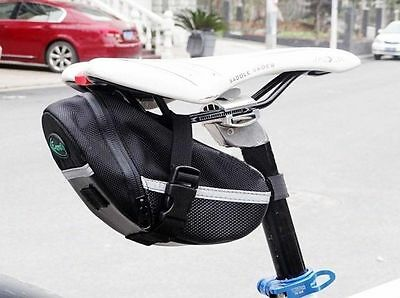Wholesale new Cycling Bike Bicycle Rear Seat Saddle Black Tail Bag Quick Release