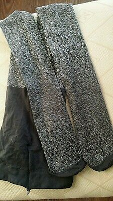 girls glittery/sparkly black tights,size 6 years,hardly used
