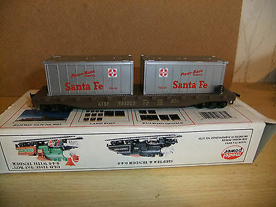 Model Power 8303  41' Flat W/2-20' Containers Santa Fe, boxed