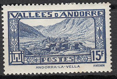 Timbre Andorre France Neuf N° 91 *  Andorre La Vieille