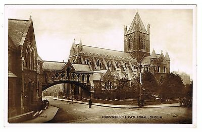 Early Postcard - Christchurch Cathedral Dublin - Ireland Eire