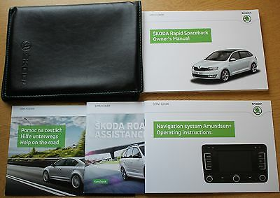 Skoda Rapid Spaceback Handbook Owners Manual Wallet Navi 2013-2016 Pack 9411