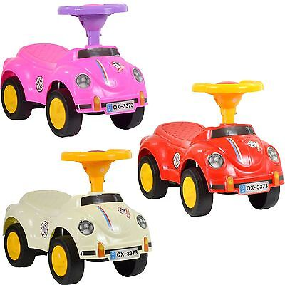 Kids Toddlers Ride On Push Sports Along Bug Style Push Car