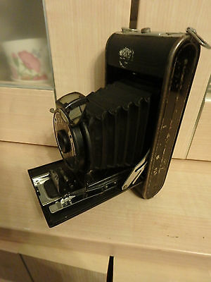 Rex Vintage Folding Camera With A Meniscus Lens Made In The U.k.