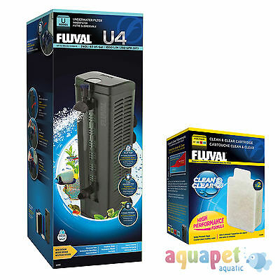Fluval U4 Underwater Filter 240L NEW! with FREE Clean & Clear Cartridge