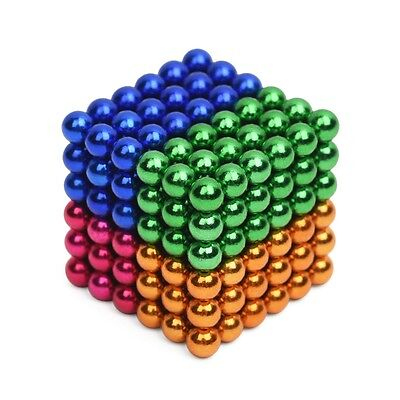 216Pcs / Set 5mm Colorful Magnetic Ball Puzzle Novelty DIY Toy Xmas Gift