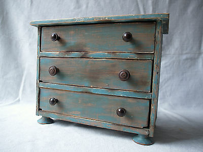 Antique French Small Wooden Chest of Drawers Rustic Country