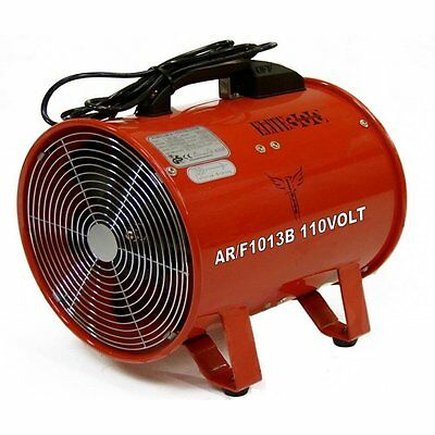 """Fume Dust Extractor Ducting Fan 250mm 10"""" Air Ventilation Extraction 110 V Volt"""