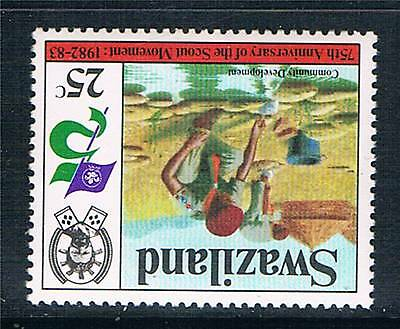 Swaziland 1982 25c Scout Movement INV WMK SG 418w MNH