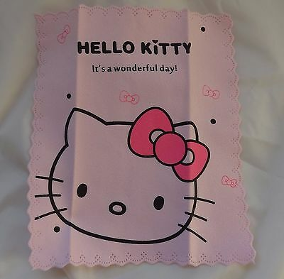 Microfibre Glasses Sunglasses Cleaning Cloth Hello Kitty Pink Cat kitten