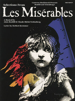 Selections from Les Miserables for Trumpet Sheet Music Book