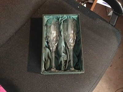 Pair Of Galway Crystal Boxed Wine Glasses