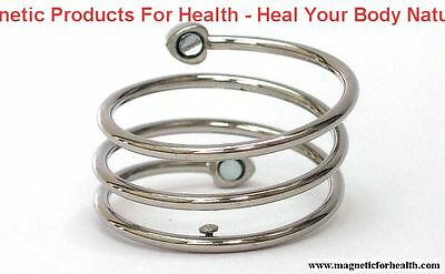 Bio-Magnetic Therapy Ring 3306 Spiral Style Silver Plated