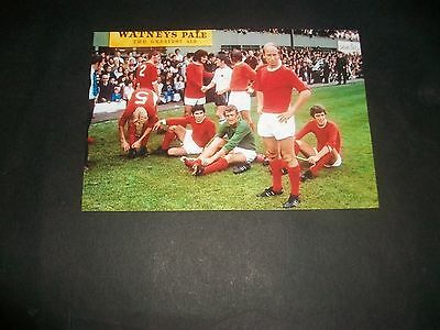 """DERBY COUNTY v MANCHESTER UNITED Watney cup 1970s 6""""x4""""  Photo REPRINT"""