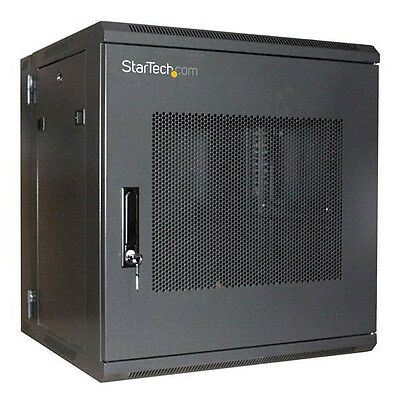 "StarTech RK1219WALHM 12U 19"" Hinged Wall Mount Server Rack Cabinet"