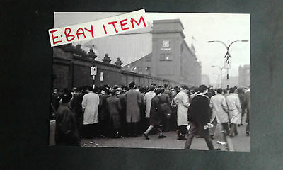 """GLASGOW RANGERS IBROX Fans outside the ground 1960s ? photo 6""""x4"""" REPRINT"""