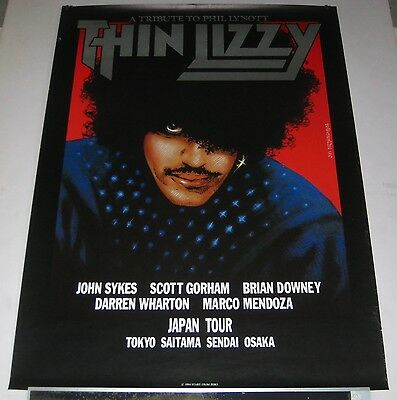 THIN LIZZY Japan PROMO ONLY 72 x 51 cm 1994 tour poster ORIGINAL Phil Lynott
