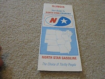 Vintage Norh Star Gas and Oil Illinois Road Map