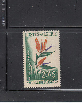 Algeria 1958 Semi-postal Flower Sc B95 complete  Mint never hinged