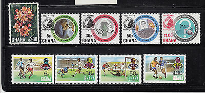 Ghana 1967-1974 Collection all mint never hinged