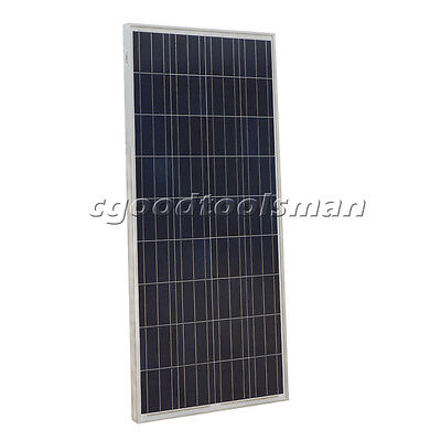 160W 12V Poly Solar Panel off Grid Battery Charging for Yacht Vehicle Household